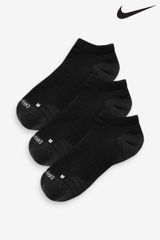 Nike Adult Black Trainer Socks Three Pack