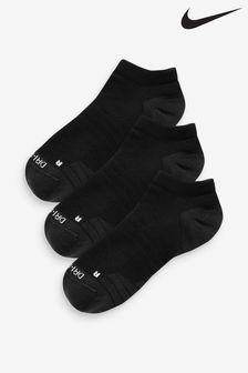 Nike Adult Black Cushioned Trainer Socks Three Pack