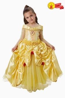 Rubies Yellow Belle Premium Fancy Dress Costume