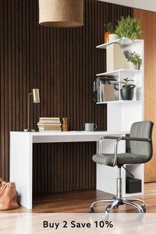 White Gloss S Desk