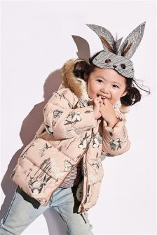 Character Print Padded Jacket (3mths-6yrs)