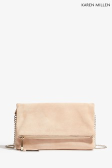 Karen Millen Nude Updated Brompton Clutch Bag