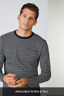 חולצת טי מפוספסת עם שרוולים ארוכים