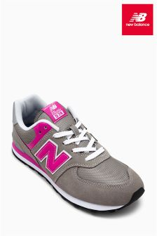 New Balance Grey/Pink 574