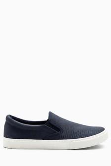 נעלי סליפ-און מבד מחורר