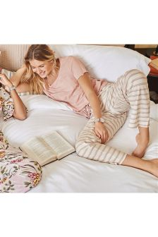 Slogan Pocket Striped Pyjamas