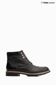 Base London® Black Winston Lace-Up Boots