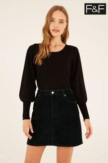 F&F Green Cord Skirt