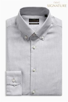 Signature Egyptian Cotton Button Down Slim Fit Shirt