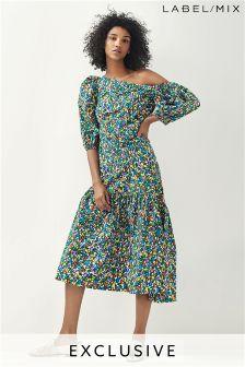 Mix/Isa Arfen Asymmetric Big Sleeve Dress