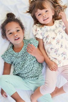 Printed Legging Pyjamas Two Pack (9mths-8yrs)