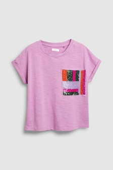 Sequin Pocket Short Sleeve T-Shirt (3-16yrs)