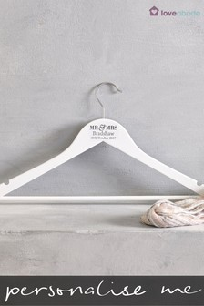 Personalised Mr and Mrs Hanger by Loveabode