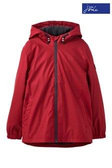 Joules Red Portwell Lightweight Waterproof Jacket