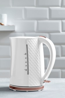 White Facet Kettle