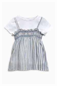 Stripe Cami And T-Shirt Set (3mths-6yrs)