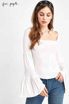 Free People Babetown Flute Sleeve Top