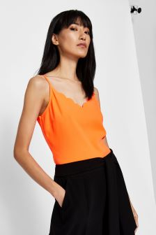 Ted Baker Siina Orange Scallop Cami