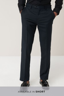 Geometric Texture Slim Fit Suit: Trousers