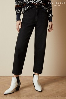 Ted Baker Black Erito Cotton Straight Leg Jeans