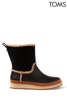 Toms Makenna Leather Wedge Mid Boots