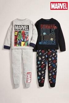 2 Pack Marvel® Pyjamas (3-12yrs)