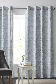 Classic Jacquard Eyelet Curtains