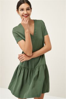 Tencel® Ruched Hem Dress