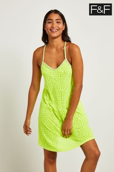 F&F Lime Animal Burnout Dress