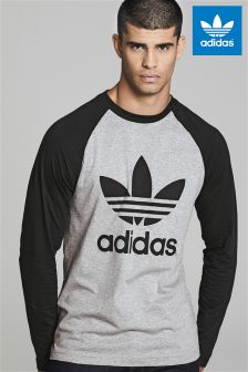 adidas Originals Grey Raglan Trefoil T-Shirt