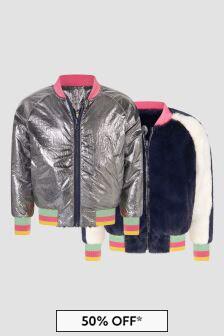 Marc Jacobs Girls Navy Reversible Jacket
