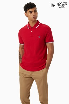 Original Penguin Red Sticker Pete Pique Polo