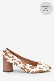 Wood Effect Heel Court Shoes