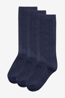Pointelle Knee High Socks Three Pack (Older)