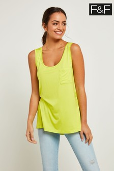 F&F Lime V-Neck Mercerised Vest
