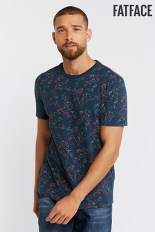 FatFace Blue Floral Rydall Print Crew