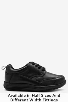 Boys Wide Fit School Shoes | Leather