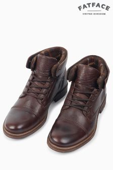 FatFace Brown Shippon Lace Up Boot