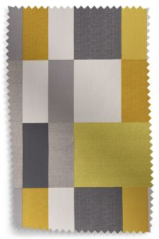 Studio Ochre Colourblock Eyelet Curtain Fabric Sample
