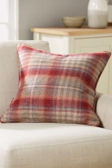 Tweedy Cranford Check Cushion