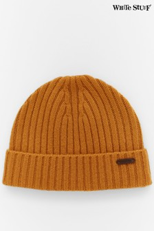 White Stuff Yellow Plain Fisherman Knitted Hat