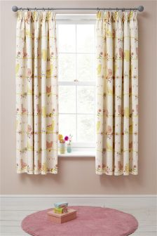 Bird Song Blackout Pencil Pleat Curtains