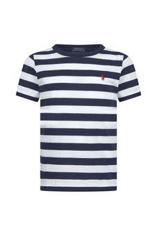 Ralph Lauren Kids Boys White Cotton T-Shirt