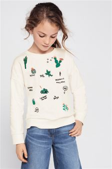 Cactus Embroidered Sweater (3-16yrs)