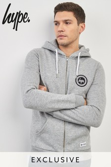 Hype. Grey Crest Zip Through Hoody