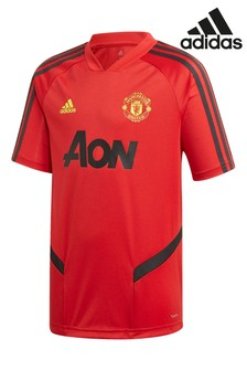 adidas Red Manchester United Training Jersey Youth