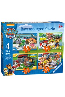 Ravensburger PAW Patrol Four in a Box 12, 16, 20, 24 Piece Jigsaws
