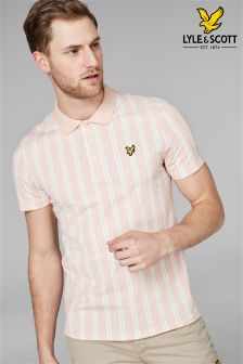Lyle & Scott Pink Deckchair Stripe Polo