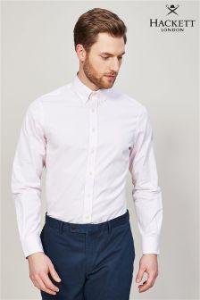 Różowa koszula w paski Hackett