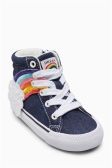 Retro High Top Trainers (Younger)